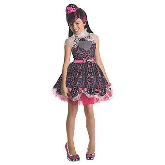 Monster High Childrens/Kids Deluxe Draculaura Costume