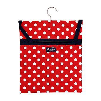 Dexam Polka Peg Bag, Red
