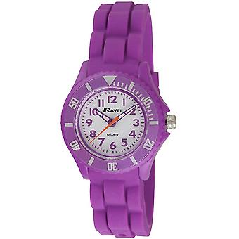Ravel Analogue Rotating Bezel & Purple Silicone Strap Children's  Watch R1802.7