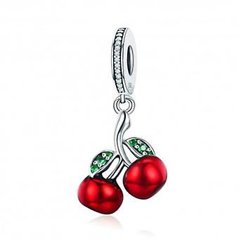 Sterling Silver Pendant Charm Cherry - 5693