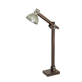 Light & Living Floor Lamp 84x16x125 Cm EDWARD Wood Brown And Vintage Silver