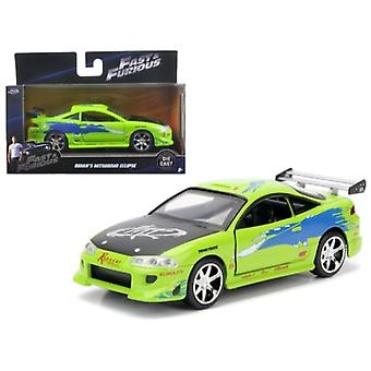 Brian\'S 1995 Mitsubishi Eclipse \Fast & Furious\ Movie 1/32 Diecast Model Car  By Jada