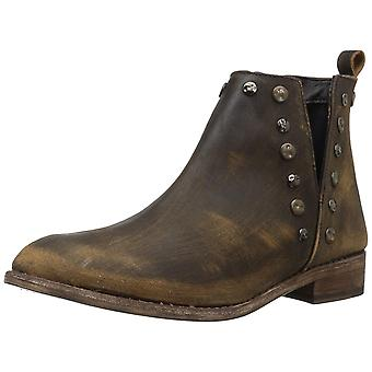 Musse & Cloud Womens roaster Leather Almond Toe Ankle Cowboy Boots