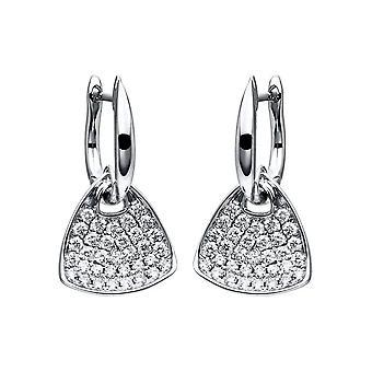 Diamond earrings earrings - 18K 750/- white gold - 0.7 ct. - 2F254W8-1
