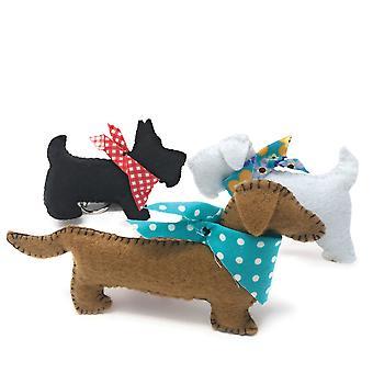 Three Felt Puppies Sewing Kit
