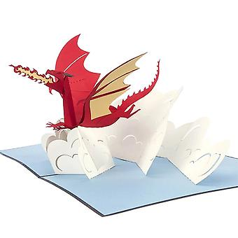 Cardology Red Dragon Pop Up Card