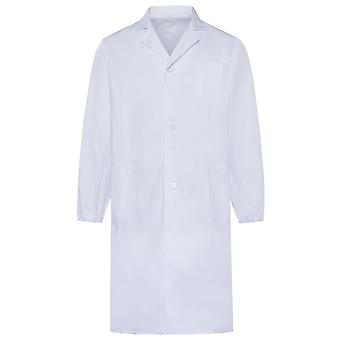 Allthemen Men's Antibacterial Medical Gowns Thick Long Medical White Coat