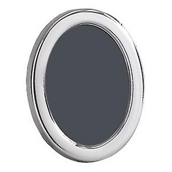 Orton West Polished Oval Photo Frame 3.5x5 - Silver