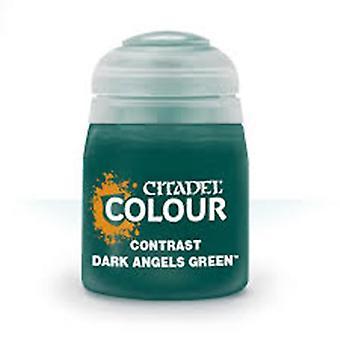 Contrast: Dark Angels Green (18ml) ,Citadel Paint Contrast, Warhammer 40,000