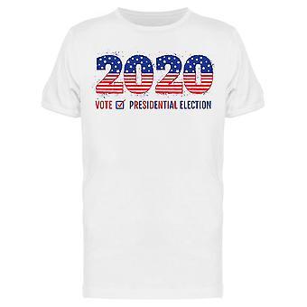 Slogan Vote 2020 Tee Men-apos;s -Image par Shutterstock