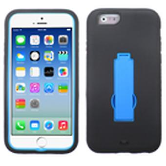 Asmyna Symbiosis Stand Protector Case for Apple iPhone 6/6S - Dark Blue/Black