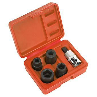 Sealey Vs0464 Brake Calliper Socket Set 5Pc 1/2Sq Drive