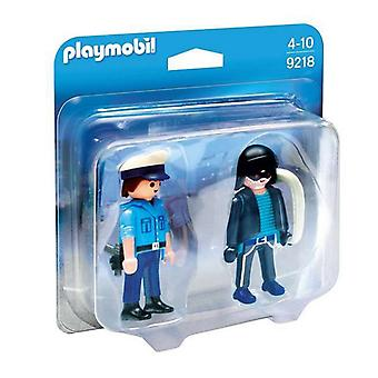 Playset Police And Thief Playmobil 9218 (6 pcs)