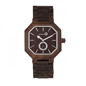 Earth Wood Acadia Bracelet Watch - Dark Brown
