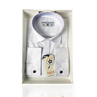 Boys Premium Classic Collar White Cufflink Shirt