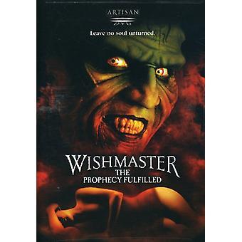 Wishmaster 4-profecía cumplido [DVD] los E.e.u.u. la importación