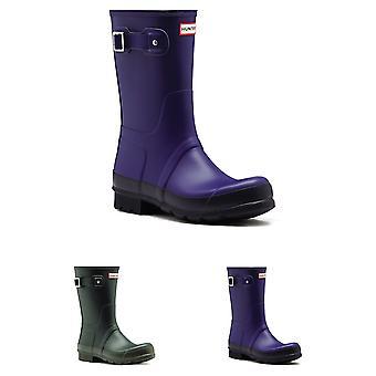 Mens Hunter Original Two Tone Short Winter Snow Rubber Wellington Boots UK 6-12