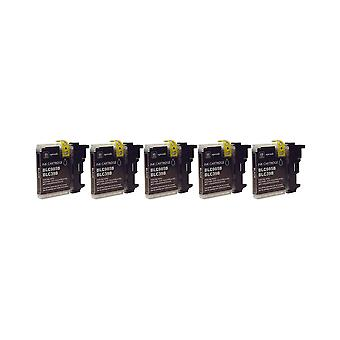 RudyTwos 5x Replacement for Brother LC-985BK Ink Unit Black Compatible with MFC-J220, J265W, J410, DCP-J125, J315W, J415W, J515W