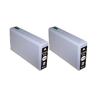 RudyTwos 2 x reemplazo de unidad de tinta Epson T7891 negro (rendimiento Extra alta) Compatible con WF5190 Pro de fuerza de trabajo de WF 5190, WF5600, WF 5600 serie, WF5620, WF5620DWF, WF5690, WF5690DWF