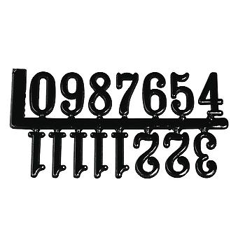 Self Adhesive Black Plastic Numerals for Clock Making