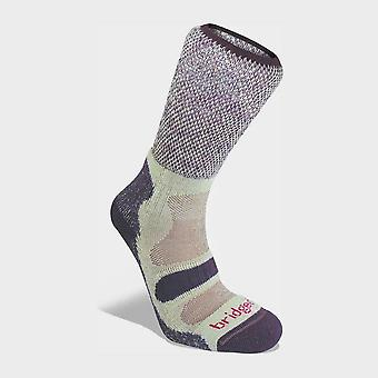 Bridgedale Women's Hike Lightweight Cotton Cool Comfort Boot Plum