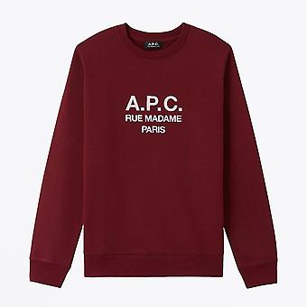 A.P.C.  - Rufus - Embroidered Logo Sweater - Burgundy