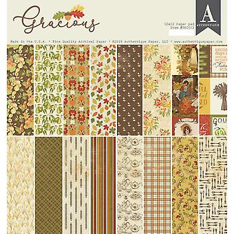 Authentique Gracious 12x12 Inch Paper Pad