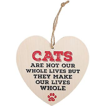 Something Different Cats Are Not Our Whole Lives Hanging Heart Sign