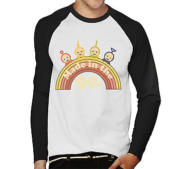 Teletubbies Made In The 90s Men's Baseball Long Sleeved T-Shirt
