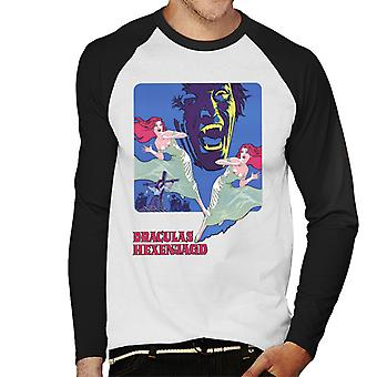 ハンマーホラー映画邪悪なドイツのタイトルメン&アポスの双子;s野球長袖Tシャツ