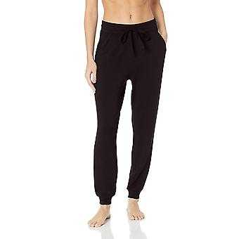 Mae Women's Standard Supersoft Francese Terry Lounge Jogger, Nero, Medio