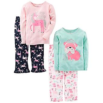 Simple Joys by Carter's Girls' Little Kid 4-Piece Pajama Set, Puppy/Unicorn, 6
