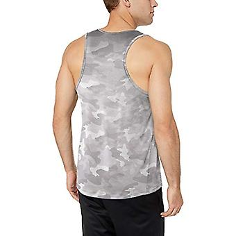 Essentials Men's Tech Stretch Performance Tank Top Shirt, weiße Camo, klein