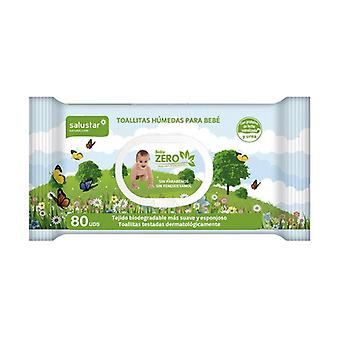 Biodegradable baby wipes BabyZero 80 units