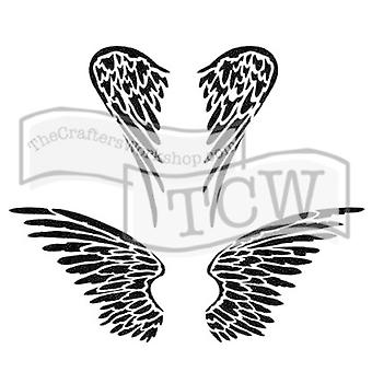 The Crafter's Workshop Angel Wings 6x6 Inch Stencil