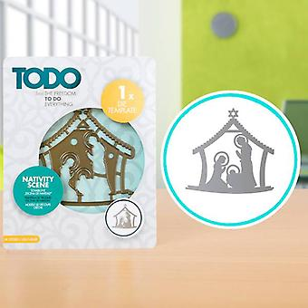 TODO Die Template Nativity Scene