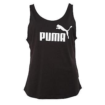 Puma Essential Logo Womens Ladies Fitness Sleeveless Tank Top Vest Black