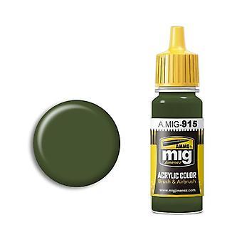Ammo by Mig Acrylic Paint - A.MIG-0915 Dark Green (17ml)