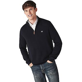 Crew Clothing Mens Classic Half Zip Super Soft Knit Jumper
