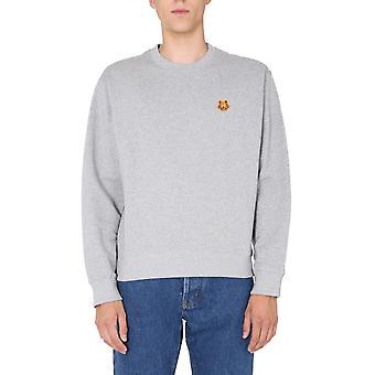 Kenzo Fa65sw0034md94 Men's Grey Cotton Sweatshirt