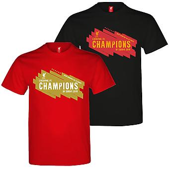 Liverpool FC Official Gift Mens Kids 6 Times Champions League Winners T-Shirt