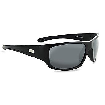 Contra - classic black polarized wide mens sunglasses