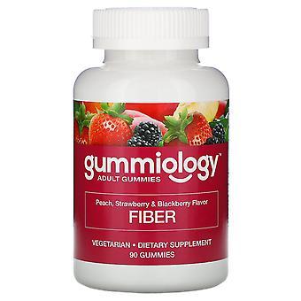 Gummiology, Adult Fiber Gummies, Natural Peach, Strawberry, & Blackberry Flavors