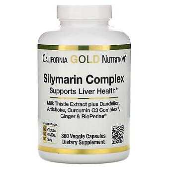 California Gold Nutrition, Silymarin Complex, Liver Health, Milk Thistle, Curcum