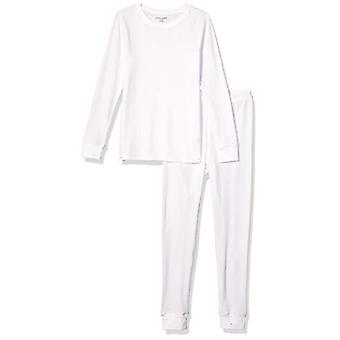 Essentials Kvinder's Thermal Long Undertøj Set, Hvid, Medium
