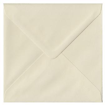 Ivory Laid Gummed 155mm Square Coloured Ivory Envelopes. 100gsm FSC Sustainable Paper. 155mm x 155mm. Banker Style Envelope.