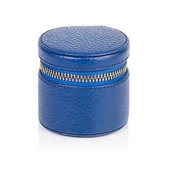 Richmond nahka pyöreä hely laatikko Sapphire Blue