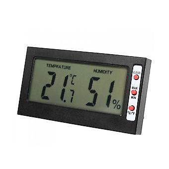 Two in One Digital Thermometer Hygrometer Black