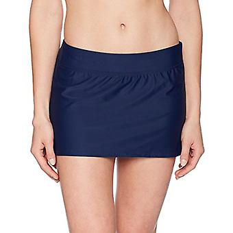 Brand - Coastal Blue Women's Swimwear Bikini Bottom, Navy, L (12-14)