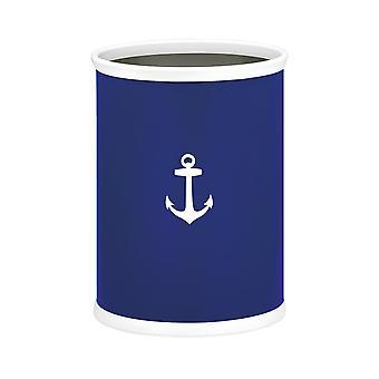 Kasualware 14 Pouces Panier ovale 13 Qt. Anchor Blue